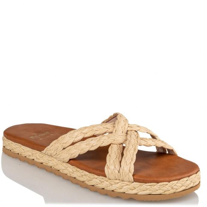Mairiboo by Envie Shoes Γυναικεία Πέδιλα M03-13886-55 Φυσικό ΨΑΘΑΚΙΑ
