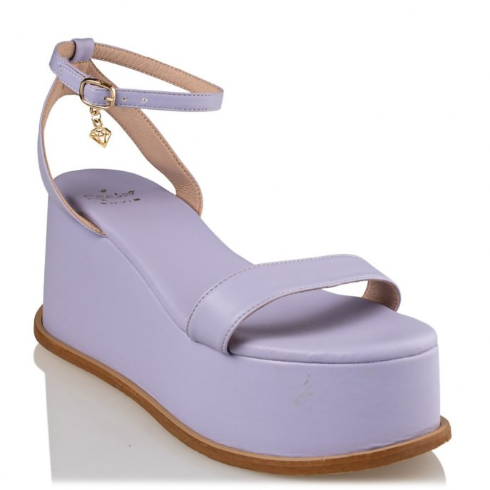 Mairiboo by Envie Shoes Γυναικεία Πέδιλα Πλατφόρμες M03-13890-82 Λιλά WANNABE