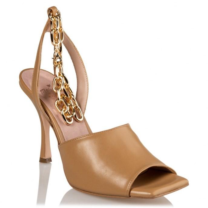 Mairiboo by Envie Shoes Γυναικεία Πέδιλα M03-13910-52 Ταμπά CHAIN CHAIN CHAIN
