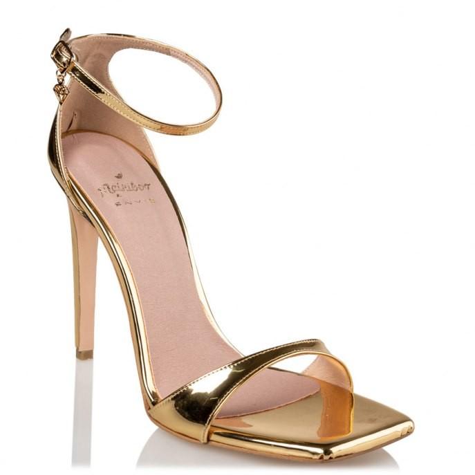 Mairiboo by Envie Shoes Γυναικεία Πέδιλα M03-13920-45 Χρυσό STILETTOS