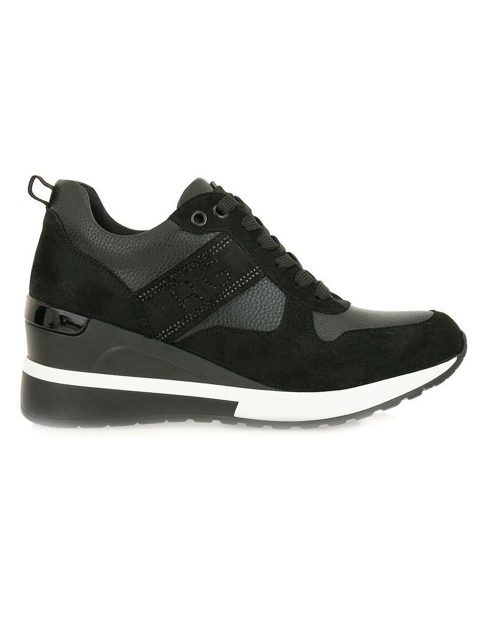Renato Garini Γυναικεία Παπούτσια Sneakers 340-19R Μαύρο Kαστόρι N119R340308R