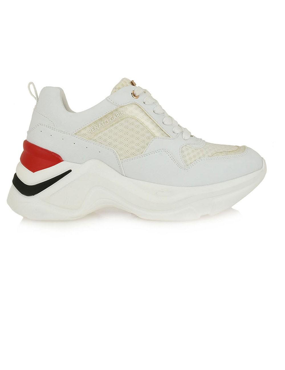 Renato Garini Γυναικεία Παπούτσια Sneakers 617-19R Λευκό- Κόκκινο N119R6173097