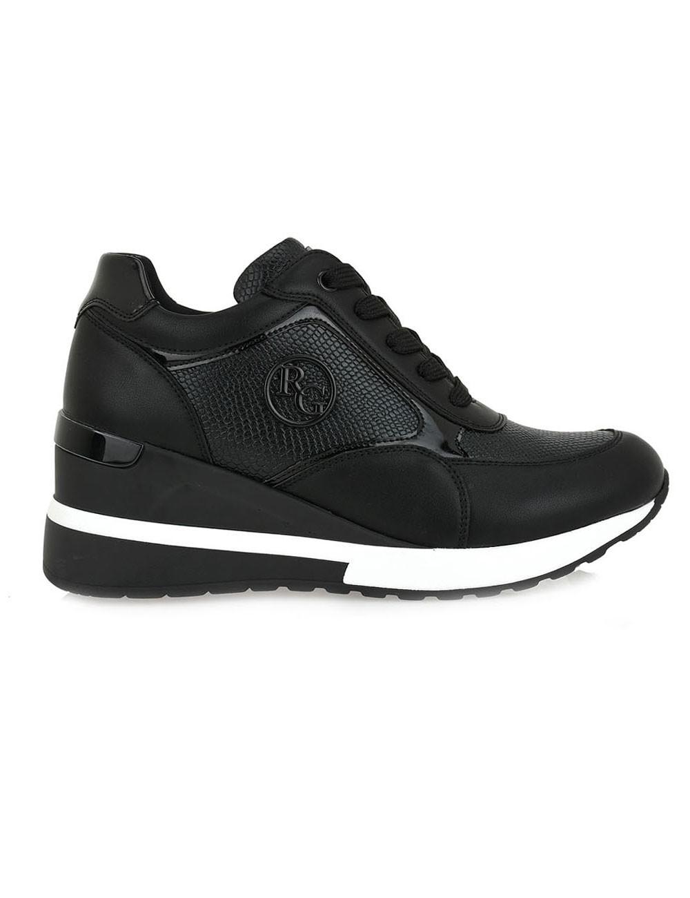 Renato Garini Γυναικεία Παπούτσια Sneakers 929-19R Μαύρο Φίδι N119R929334F