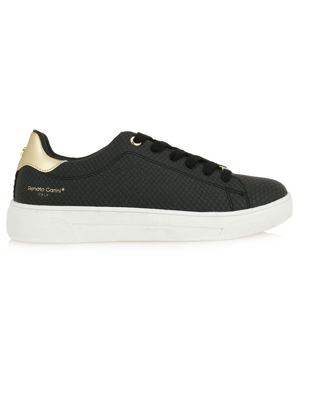 Renato Garini Γυναικεία Παπούτσια Sneakers 203-57Q Mαύρο Φίδι