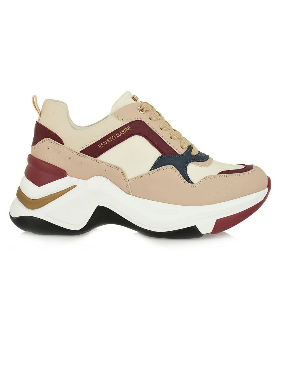 Renato Garini Γυναικεία Παπούτσια Sneakers 617-19R Nude Μπορντώ N119R6173P70