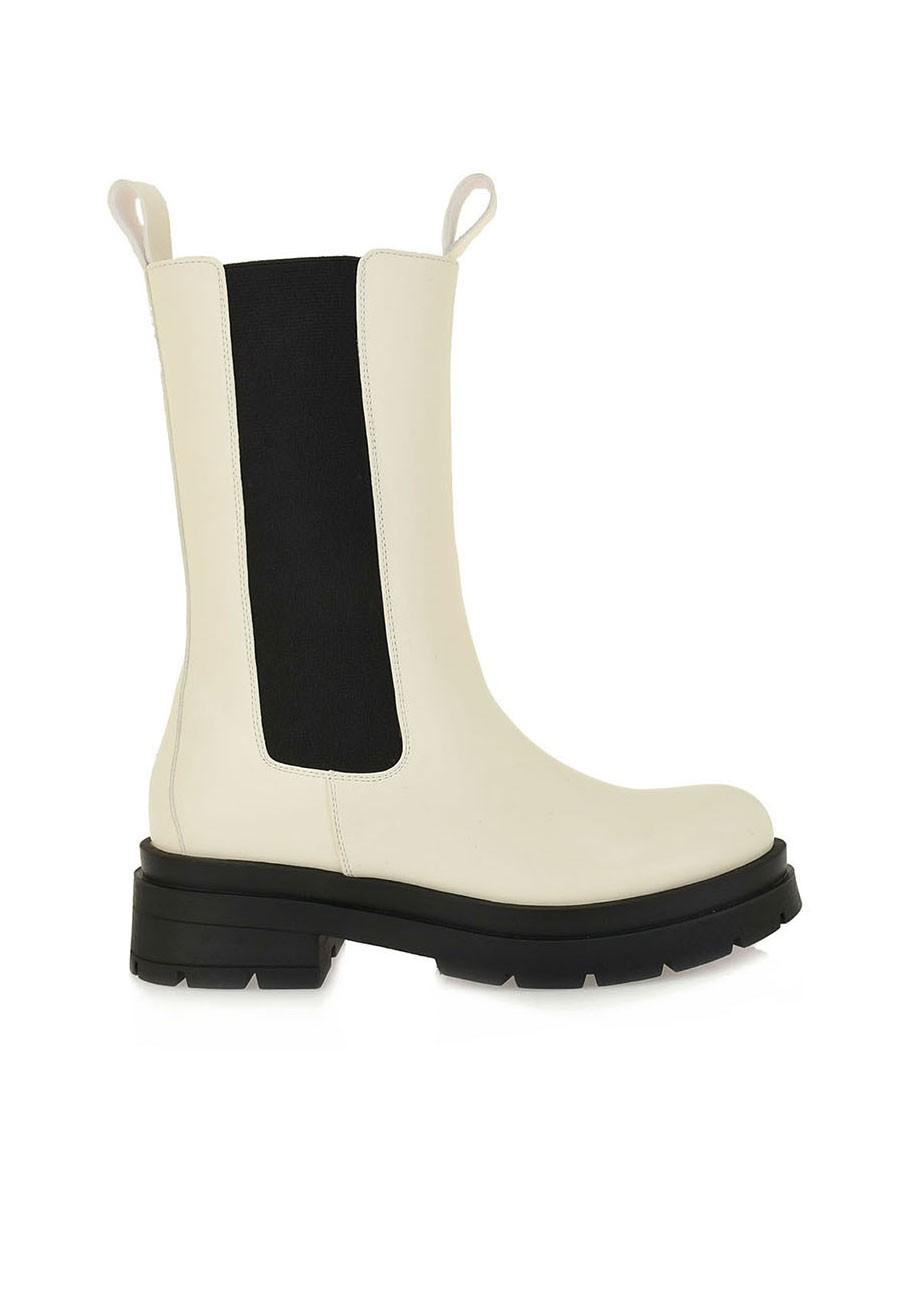 Exe Shoes Γυναικεία Μποτάκια 172-19R Εκρού-Μαύρο N319R1723342