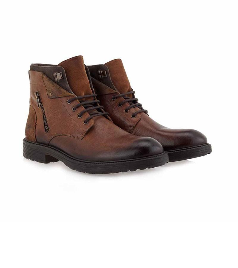 JK LONDON Ανδρικά παπούτσια Αρβυλάκια 453-81Υ Ταμπά Δέρμα N581Y4532532