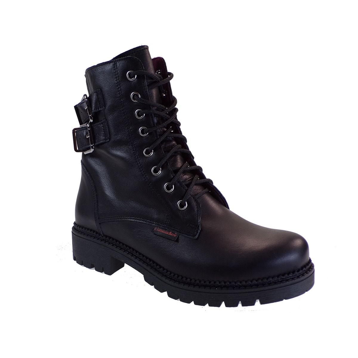 Commanchero Γυναικεία Παπούτσια Μποτάκια Αρβυλάκια 5776-721 Μαύρο Δέρμα