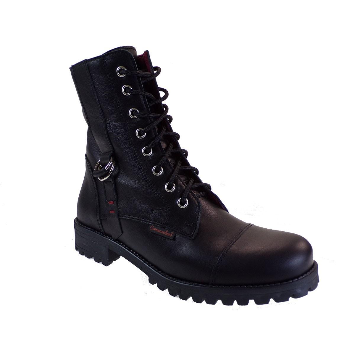 Commanchero Γυναικεία Παπούτσια Μποτάκια Αρβυλάκια 5280-721 Μαύρο Δέρμα