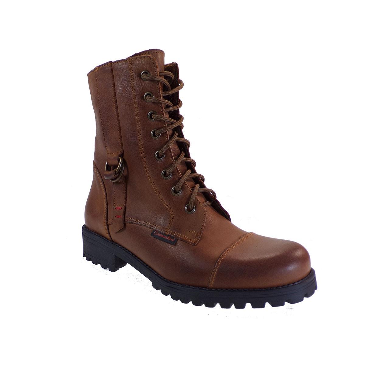 Commanchero Γυναικεία Παπούτσια Μποτάκια Αρβυλάκια 5280-726 Ταμπά Δέρμα