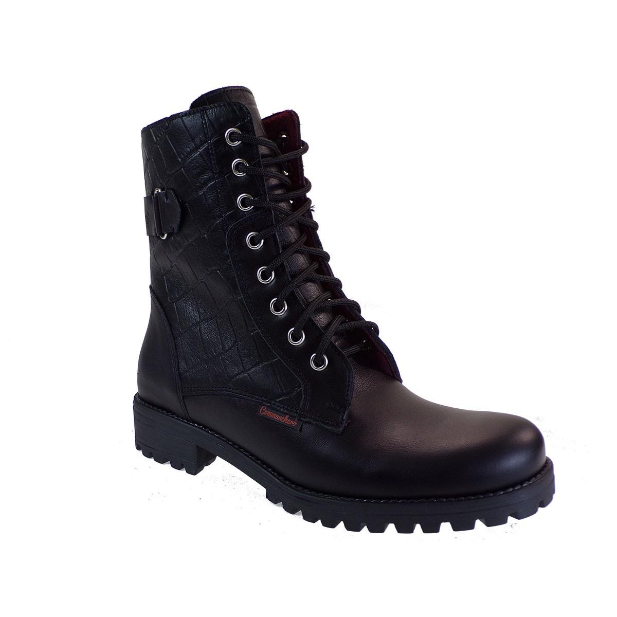 Commanchero Γυναικεία Παπούτσια Μποτάκια Αρβυλάκια 5768-721 Μαύρο Δέρμα