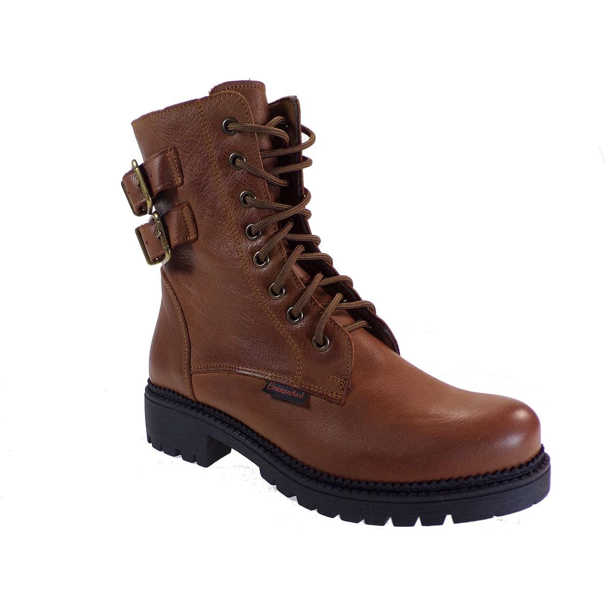 Commanchero Γυναικεία Παπούτσια Μποτάκια Αρβυλάκια 5776-726 Ταμπά Δέρμα