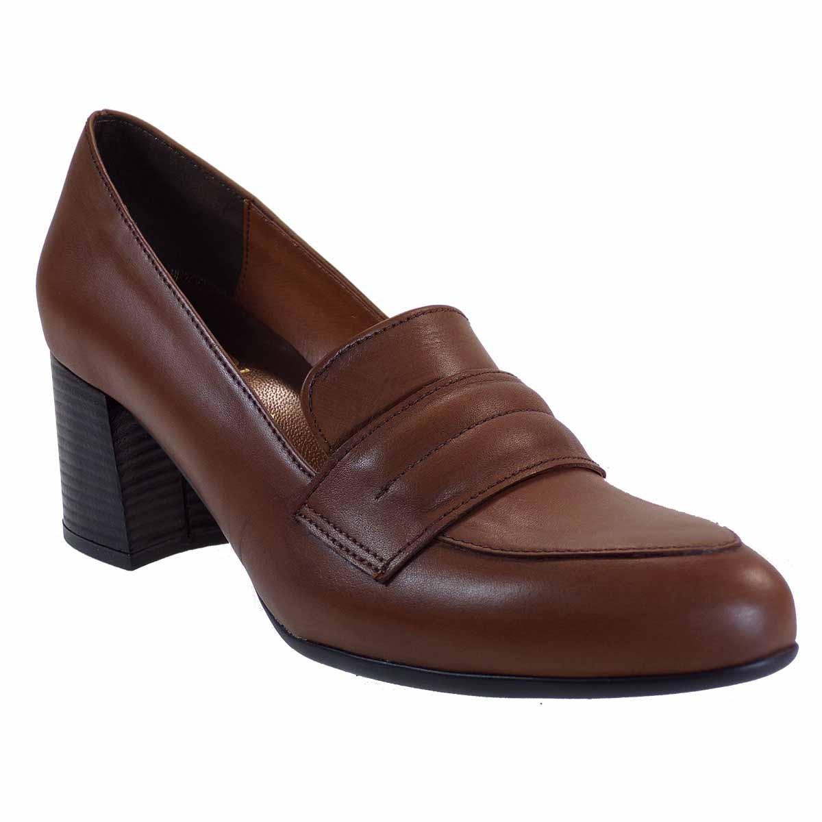 Katia Shoes Γυναικεία Παπούτσια Γόβες Κ44-1809 Ταμπά Δέρμα