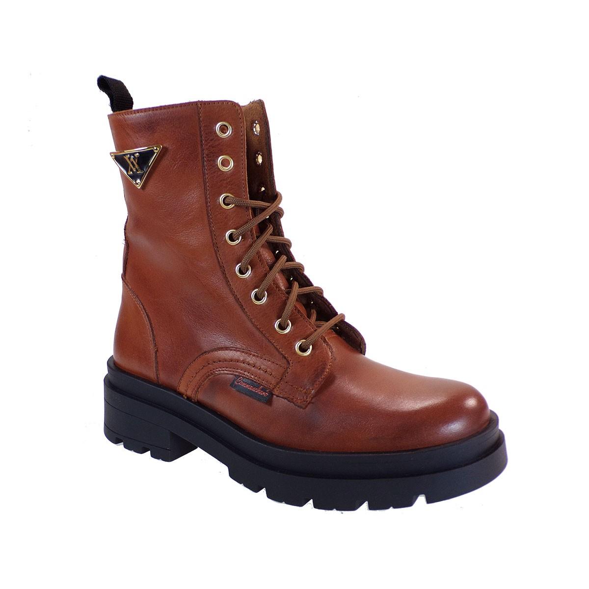 Commanchero Γυναικεία Παπούτσια Μποτάκια Αρβυλάκια 5797-726 Ταμπά Δέρμα