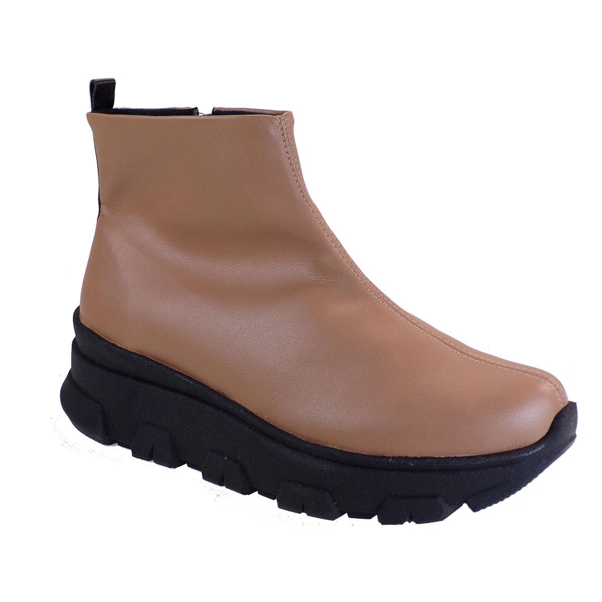 PICCADILLY Γυναικεία Παπούτσια Μποτάκια Ανατoμικά 358005-1 Πούδρα