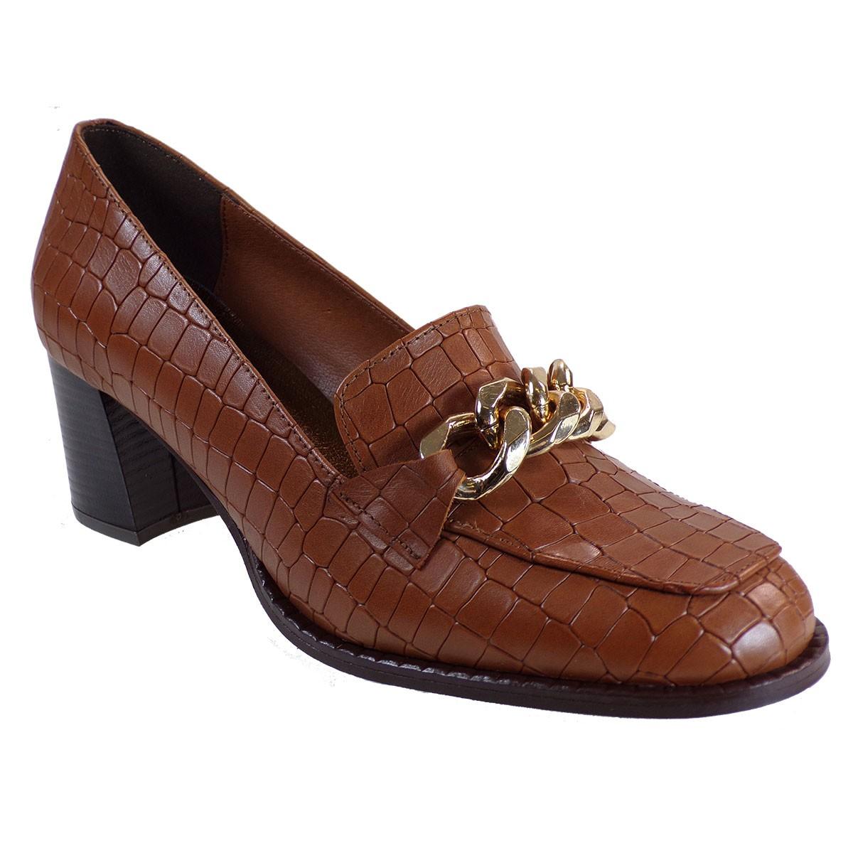 Katia Shoes Γυναικεία Παπούτσια Γόβες Κ33-1843 Ταμπά Κροκό