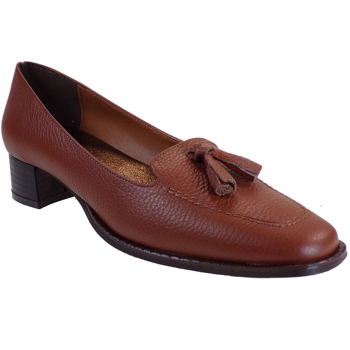 Katia Shoes Γυναικεία Παπούτσια Γόβες Κ32-5037 Ταμπά Δέρμα