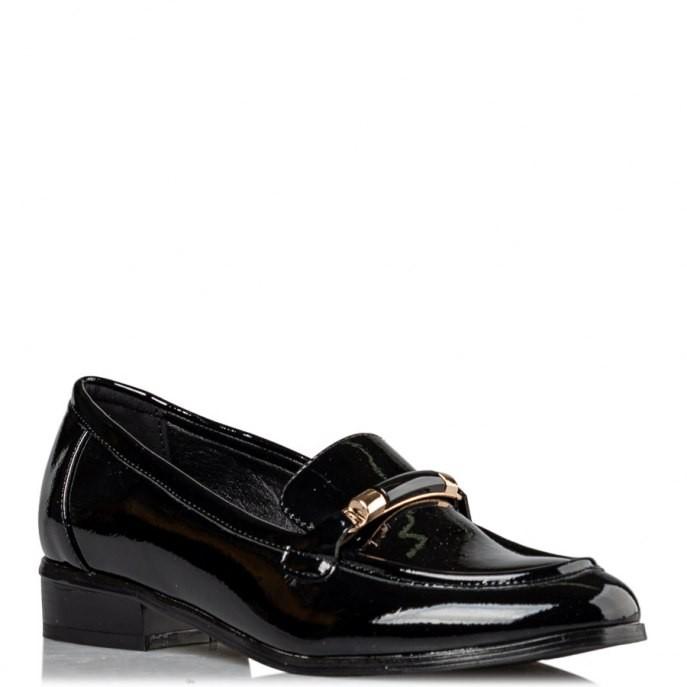 Miss NV Γυναικεία Παπούτσια LOAFERS V63-14033-34 Μαύρο